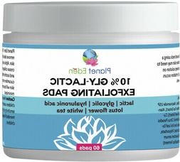 10% Gly-Lactic Glycolic & Lactic Acid Skin Exfoliating Pads