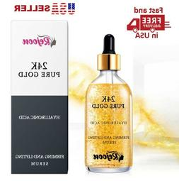 24K Pure Gold Serum, Anti-Aging, Anti-Redness, Skin Whitenin