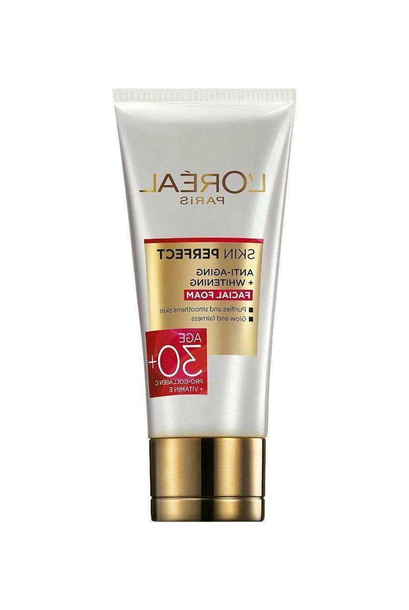 New L'Oreal Paris Perfect Skin Anti aging + Whitening face W