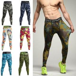 Mens Leggings Compression Thermal Under Base Layer Fitness P
