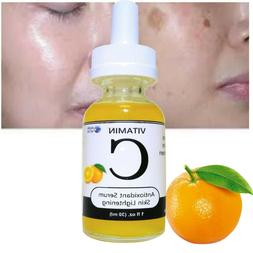 Skin Lightening VITAMIN C Organic Serum Bleach Blemishes Sta